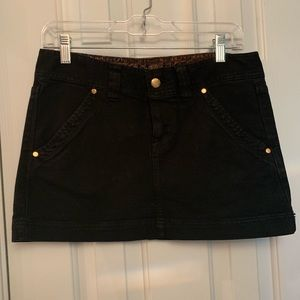 Express Black Denim Skirt